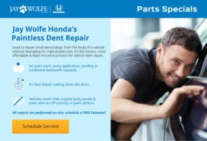 Jay Wolfe Honda Parts Specials