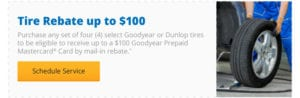 Tire Rebate up to $100