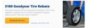 $100 Goodyear Tire Rebate