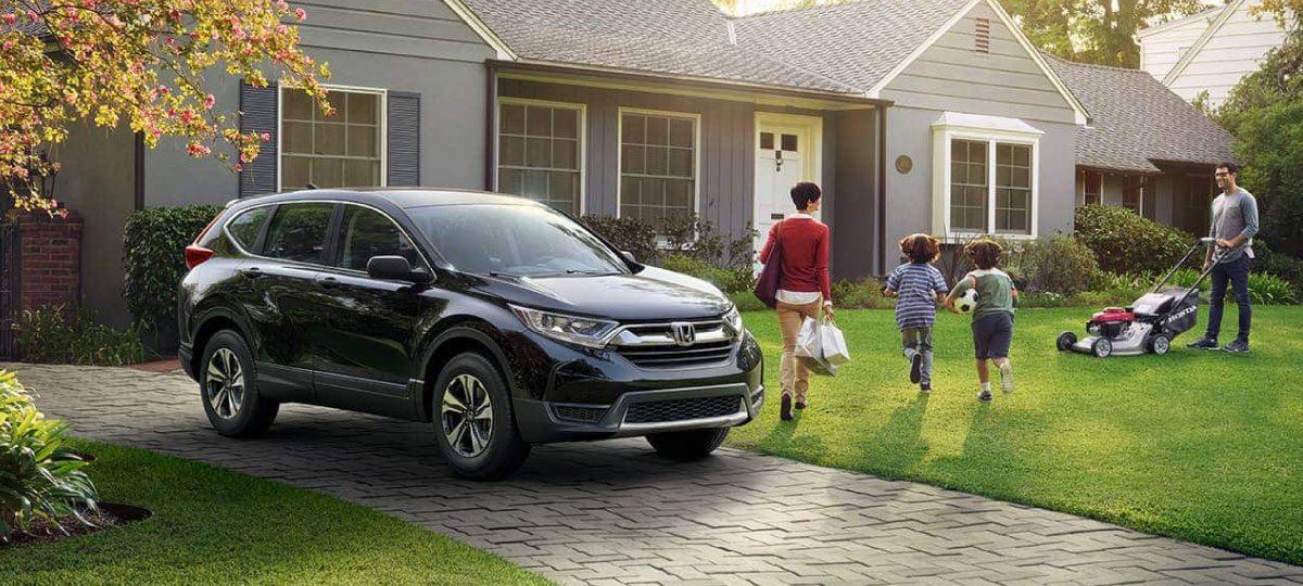 Honda in Driveway