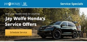 Service Specials from Jay Wolfe Honda