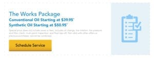 The Works Package service starting as low as $39.95