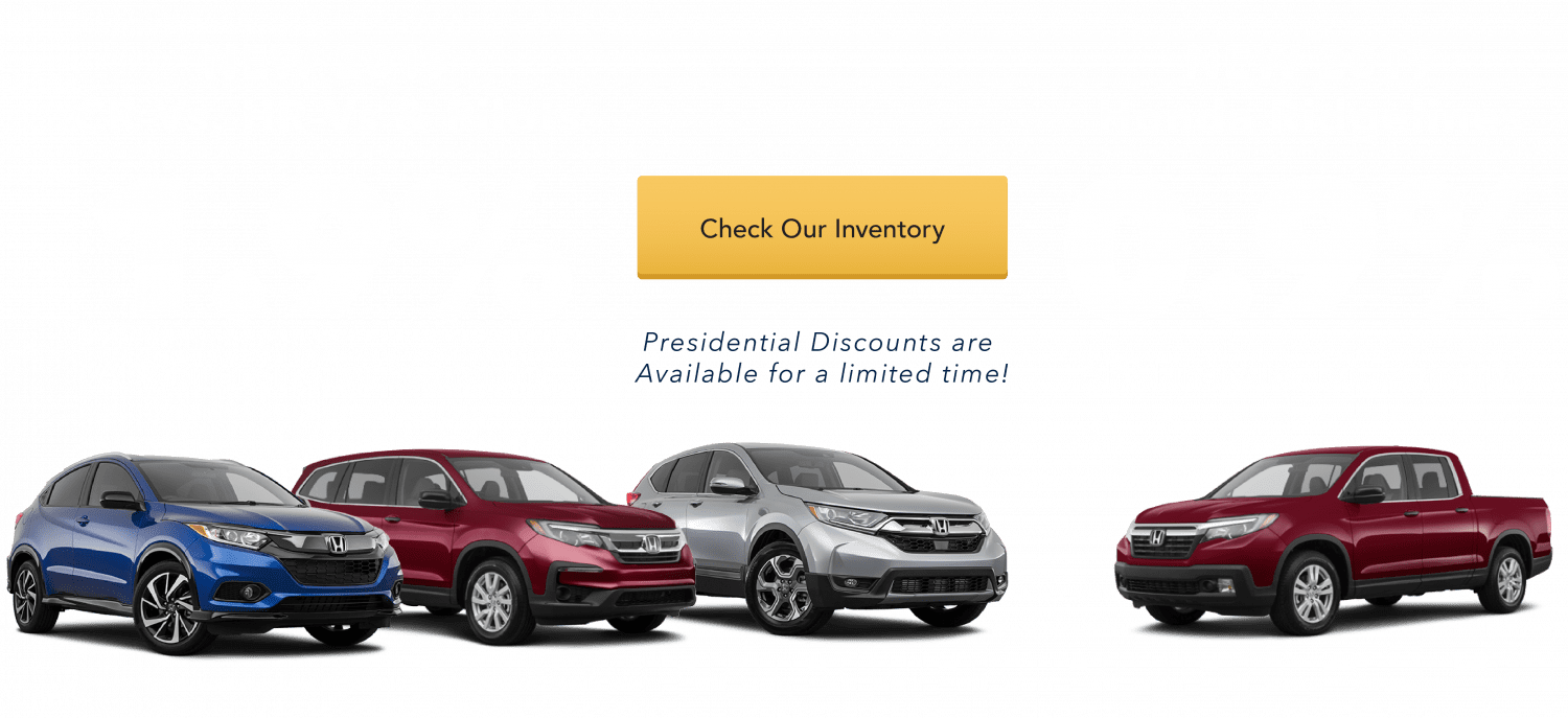 New 2019 Honda CR-V, HR-V, Pilot & Ridgeline APR financing