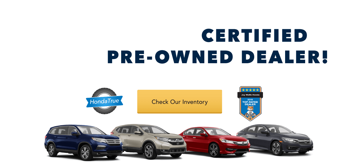 KC's number 1 volume Certified Pre-Owned Honda Dealer